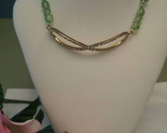 Shawzae Peridot Bliss Cyrstal Necklace w/Pendant Choker Style