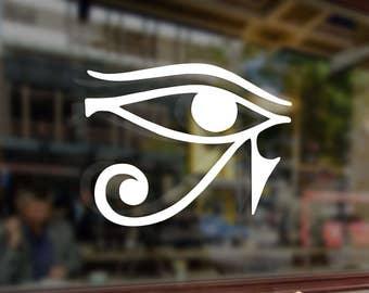 Eye of Amon Ra Egyptian God Vinyl Stickers Decals Bumper Car Auto Computer Phone Mobile Laptop Wall Window Glass Skateboard Snowboard Helmet