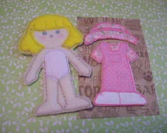 Flat Doll with Outfit (4 different dolls to choose from)
