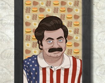Ron Swanson Poster Print A3+ 13 x 19 in - 33 x 48 cm  Buy 2 get 1 FREE