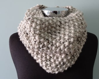 Cowl neck scarf in Oatmeal