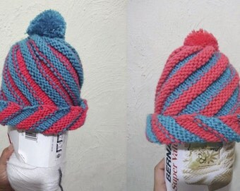 Spiral reversible Beanie / Hat reversible