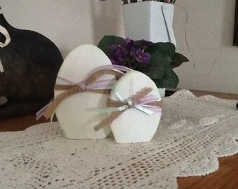 Primitive Wood Eggs Set of 2