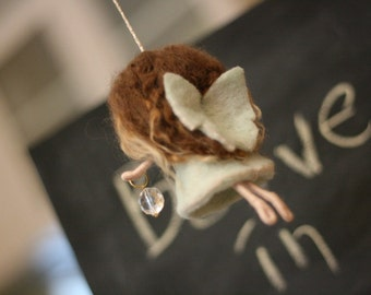 Fairy Breena - Needle Felted home decoration and gift with little magic