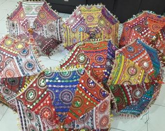 Sangrahan Designer Indian Traditional Handmade Rajasthani Umbrella - Wholesale Lot of 50 Pc
