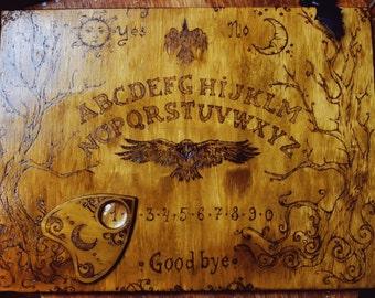 Wooden Ouija Board spiritual talking board wood hand-sculpted english russian alphabet spiritism