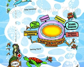 Deep Sea Adventure Get Well Map
