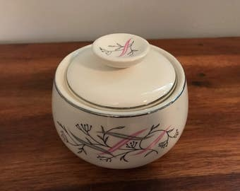 "Adorable Midcentury Rhythm by Homer Laughlin ""Allegro"" Sugar Bowl"
