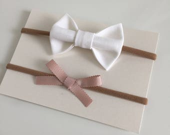 Hair bows, hair accessories, baby gifts, linen bows