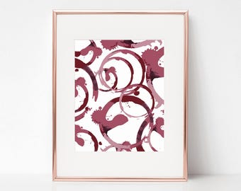 Wine Stain, 11x14 Digital Download Prints, Wall Art, Home Office, Kate Spade, Arbor Grace Collections