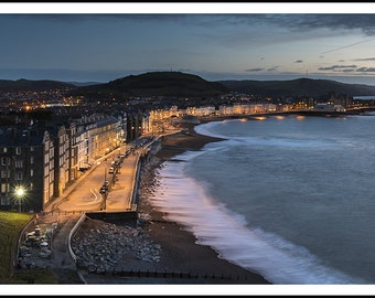 Aberystwyth Sea Front, at sunset