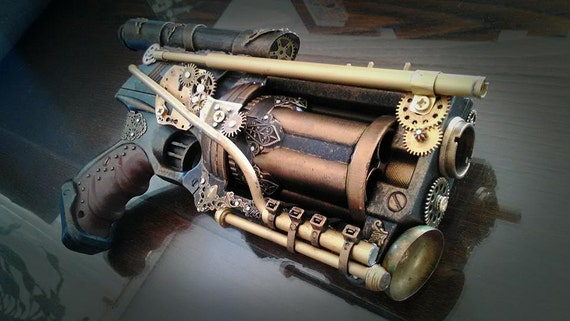 Steampunk Revolver typeA by ProgettoSteam
