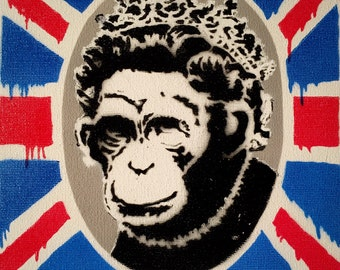"8X10"" Monkey Queen Stencil Art"