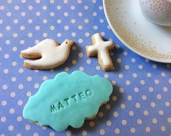 Customizable baptism cookies