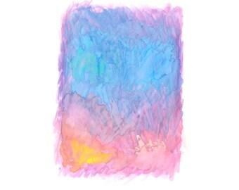 16 x 20 Print - COLOR #19 - Abstract Minimalist Watercolor Print