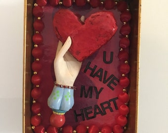 Altar, Valentine, nich, shadow box, U have my Hart