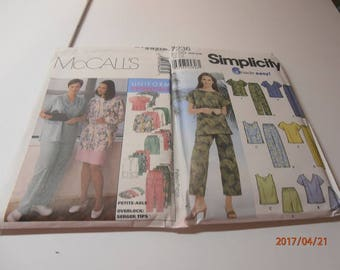 uniform pattern, McCalls #9644 size 26-30 simplicity 7236 size 26-32