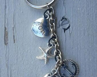 Charm key chain • Son • nautical