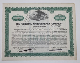 The action of the General garbonalpha company, 1926 - USA