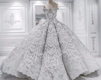 Custom Made Zboda Bridal Wedding Dress Luxurious Princess Wedding Dress Satin With Beading Ball Gown Wedding Dress 2017