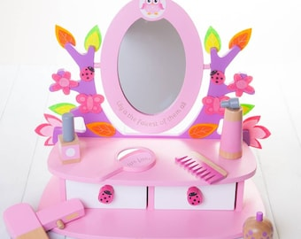 Personalised Childrens Vanity Mirror Set