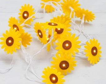 Sunflower Felt String Lights