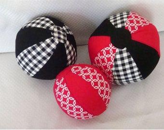 Soft stuffed Balls, Set of Three
