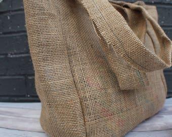 HESSIAN Tote Bag - Jute bag - Hessian - Burlap Bag - Wedding - Personalised - Gift