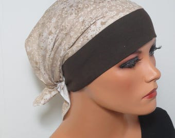 Head scarf Hat/TURBAN retired ideal headgear b. chemotherapy alopecia hair loss chemo Hat cancer cancer therapy convertible cloth