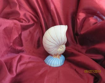 Shell vase or support - books