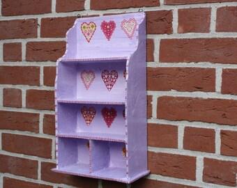 Shelf with heart