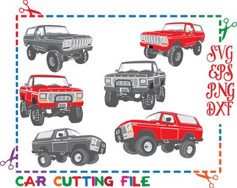 Ford Bronco,Ford digital,Car cutting files,Ford svg,Vector Clip Art for Commercial,Cars svg cut files & Personal Use - Instant DownLoad
