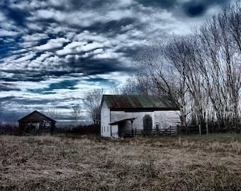 White Barn, Barn Photography, Barn Photograph, Barn Photo, Barn Print, White Barn Photograph, Weathered Barn Photograph, Old Barn Photo