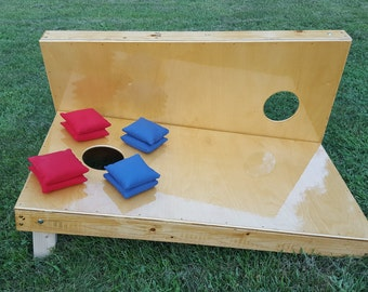 Bag Toss Cornhole Bags and Boards Game Regulation Size Handcrafted Durability