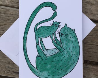 Mama Cat, Mother's Day card