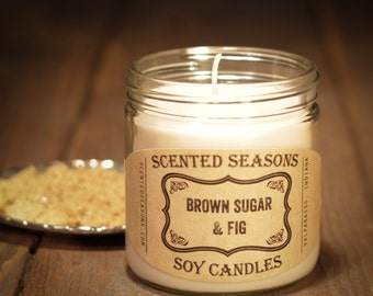 7 oz. Brown Sugar and Fig All Soy Candle