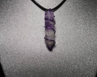 Natural Amethyst Point Pendant, EPSTEAM