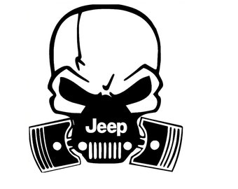 Jeep Skull Gas Mask Vinyl Decal