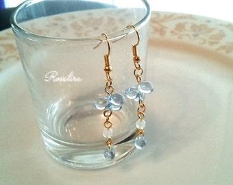 Water, with Czech glass drop pierced earrings
