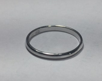 Size 2.5 Child's Simple Sterling Ring
