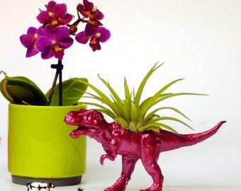 Glitter Pink T-Rex Dinosaur Planter