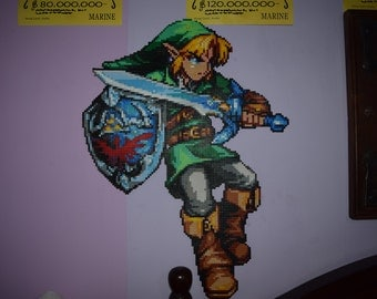 Link made with hama beads of 55 x 74