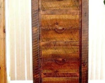 Rustic Barnwood File Cabinet, Solid Wood File Cabinet, Rustic Office  Furniture, Country Roads