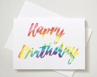 Greeting Card - Rainbow Birthday