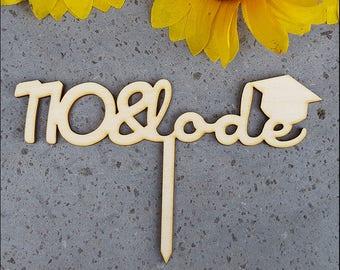 Cake Topper-Graduate 110 & praise