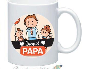 Mug soon Daddy pregnancy baby customizable #2 ad