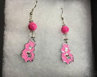 Care bear earrings