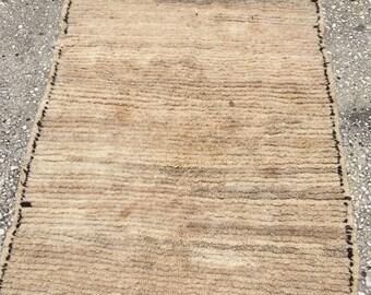 "Flat weave azilal rug moroccan  berber 72"" x 38"""