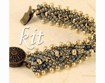 Antique Lace Bracelet Beading Kit 4: Aegean Sea
