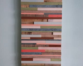 Coastal Collection , Wall Art, Reclaimed Wood, Pallet Wood, Home Decor, Upcycled Wood, Coral, Beach Decor